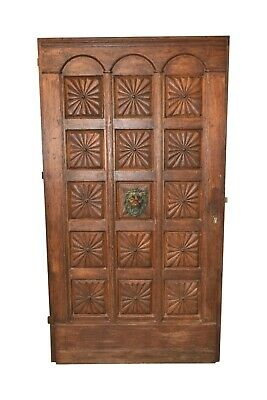 Antique French Door, Heavy & Thick, Oak, 19th Century