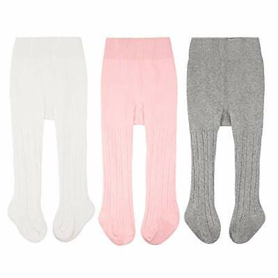 CozyWay Baby Girls Tights Cable Knit Leggings Stockings Cotton 3/5 Pack Panty...