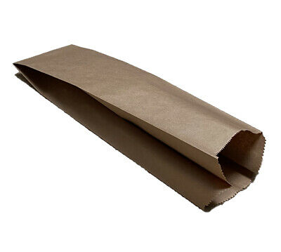 100% Recyclable & Compostable Brown Heavy Duty Paper Bread or Liquor Bag (500ea)