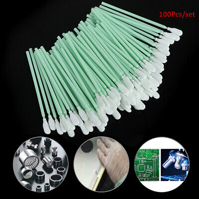 100pcs Sponge Cleaning Swaps Buds Foam Antistatic Form Sticks Swabs Solvent B0