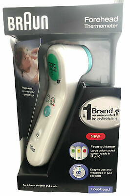 Braun Forehead Thermometer BFH175 for Infants Children & Adults NEW
