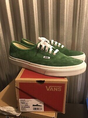 Vans Authentic; Pig Suede; Green White; Pre-Owned; US 10