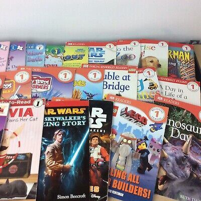 Lot of 15 Level 1~RL~Ready to-I Can Read-Step into Reading-Learn Read Books MIX