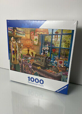 Ravensburger New 1000 Piece Jigsaw Puzzle 19406 The Sewing Shed Sealed