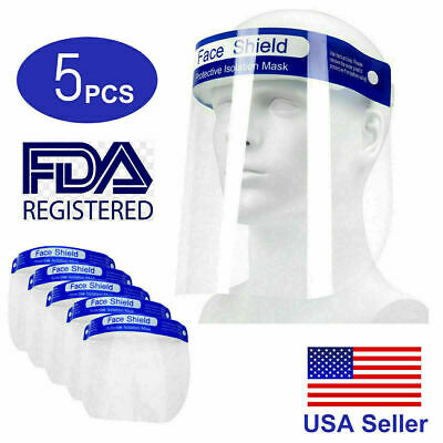 2 PC Safety Full Face Shield Reusable Washable Protection Cover Face shield