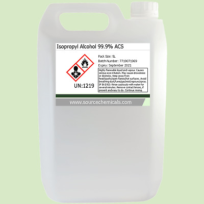 Isopropyl Alcohol (Isopropanol) 99.9% 5 Litre (5L) Including Delivery