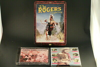 Roy Rogers King Of The Cowboys DVD Set Plus 2 Music Cd's