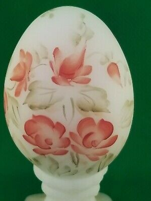 Fenton Custard Egg Cup North American Signed J Powell 772/3000 Hand Painted OLD