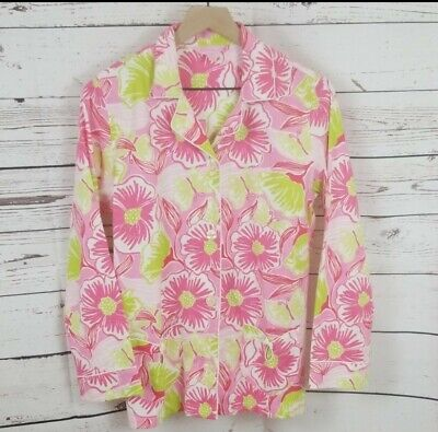 Lilly Pulitzer Pink/Green Floral Pajama Top Size Small