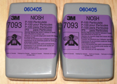 3M 7093  (4 Filter)  2 Sets AUTHENTIC P100  like 2091 but encased in plastic