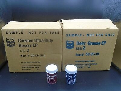CHEVRON GREASE FULL SALESMAN SAMPLE JARS IN BOX (120 oz.)