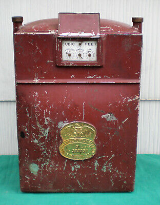 Antique 1904 Nathaniel Tufts Co. Gas Meter ~ Vintage Steampunk / Industrial