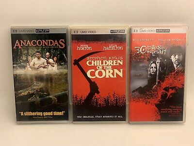 PSP UMD Movies Lot Of 3 Movies, Horror Umd Movies, All In Good Condition.