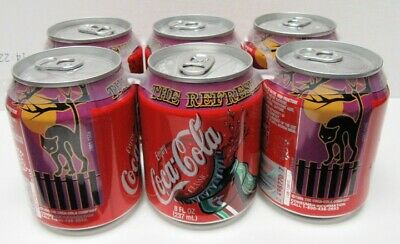 2002 6-Pack Of Halloween Mini (8Oz) Cans - Mint Condition - Great L@@K!