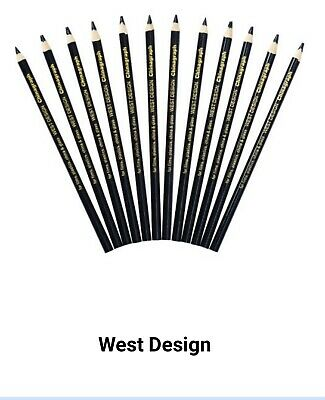 West Design Black Chinagraph Marking Pencil (Pack of 12) RS525653
