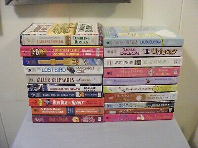 Large Lot (20) COZY MYSTERIES - Different authors - Whodunit - pbs - FREE SHIP