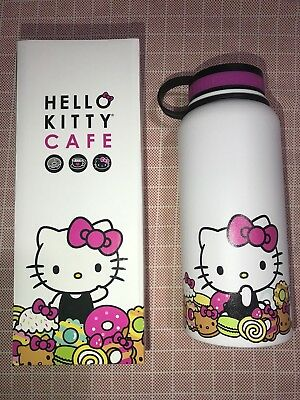 NEW Hello Kitty Cafe Limited Edition Thermal Thermos Water Bottle Big 32 oz