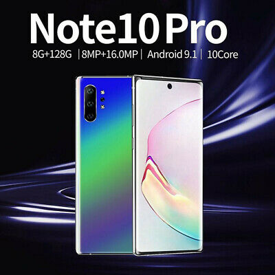 """Note 10 6.8"""" Android 9.1 8G+128GB 10 Core Face ID Unlock Smart Mobile Phone NEW"""