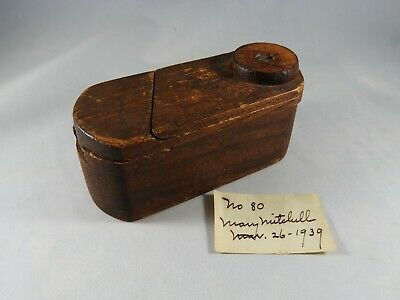 Wood Puzzle Box Made by Mutiny on Bounty Descendant on Pitcairn Island in 1939