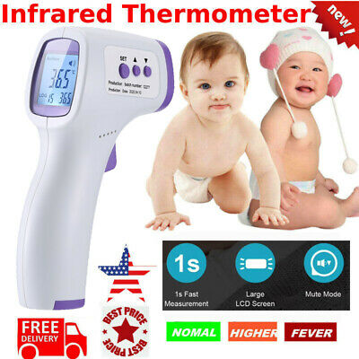 Digital Infrared LCD Thermometer Forehead Non-touch Handheld Temperature Gun