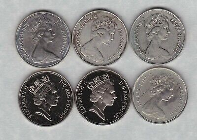 Six Large Proof Ten Pence Coins 1973 To 1990 In Near Mint Condition