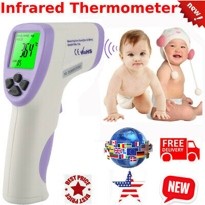 LCD Digital Infrared IR Forehead Handheld Non-contact Thermometer Laser Temp Gun
