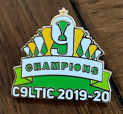 Celtic Champions 9 In A Row 2020 Souvenir Hard Enamel Pin Badge - Pre Order