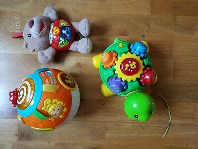Three Interactive  Vtech Baby Toys. Ball/Turtle/Teddy