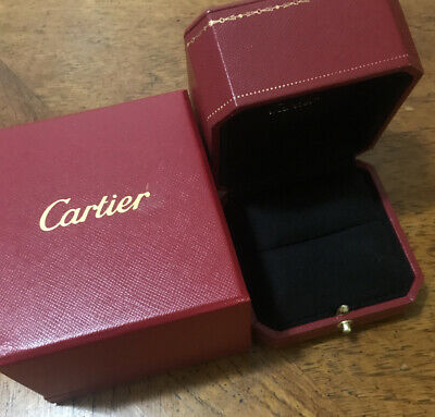 Authentic Cartier Ring Box — with Outer Box, Inner Box and Gift Bag