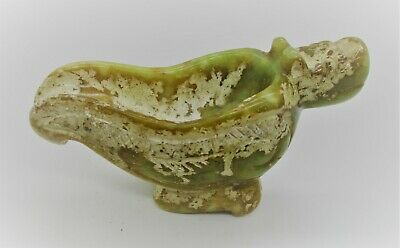 Beautiful Old Antique Chinese Jade Stone Carved Vessel Tang Dynasty