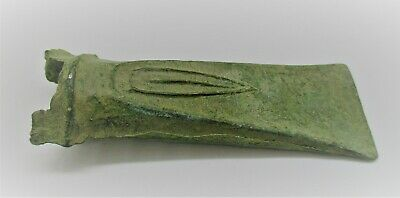 Bronze Age European Bronze Socketed Decorated Axe Head 2000-1500Bce