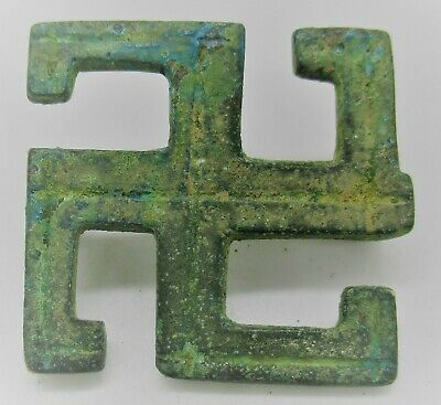 Circa 200 - 300 Ad Ancient Roman Bronze Svvastika Brooch European Find