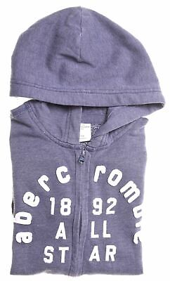 ABERCROMBIE & FITCH Girls Hoodie Sweater 13-14 Years Large Blue Cotton  JI04