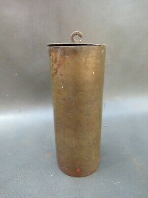 Antique or vintage brass cased wall clock weight - spares parts