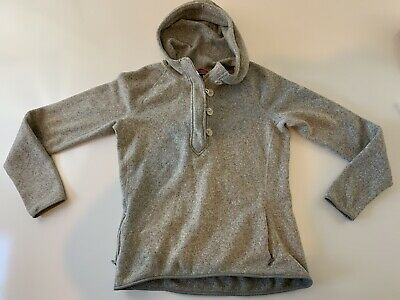 The North Face Pullover Fleece Khaki Hoodie Sweatshirt Jacket Women's Size XL