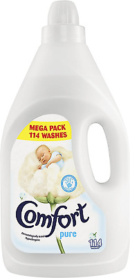 Comfort Pure Fabric Conditioner 114 Wash, 4 Litre, Pack Of 4