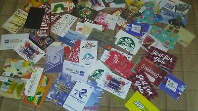 75  Mixed Gift/Hotel Key Cards,Multiples Cool,Walmart,Panda,Starbucks,Bonvoy
