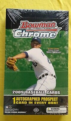 2009 Bowman Chrome MLB 18Pks/4Cards 1 Auto Factory Seal Look For Trouts Auto!!!