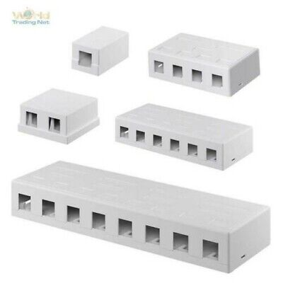 Keystone Modular Surface Mount Empty Box, UTP, White, for Snap - IN