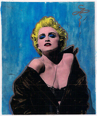 """MADONNA"" Pop Art portrait inspired by ANDY WARHOL 8 X 10 Signed"