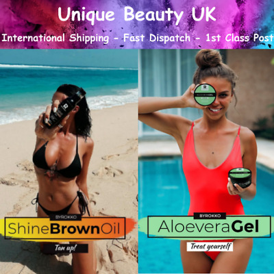 Byrokko SHINE BROWN OIL For Faster Tanning AND/OR ALOE VERA After Sun Gel