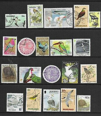 Birds,nice page with many better values mainly Fine Used