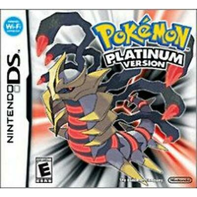 Nintendo DS Pokemon Platinum Version - Case and Manual Only