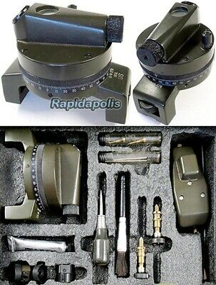 Fine Cased U.S. Marked Alidade or Degree Compass and Accessories