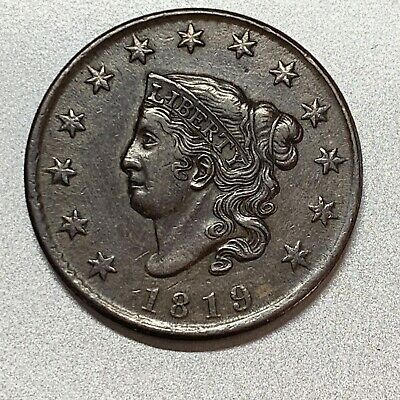 1819 Large Cent   N-9   Choice Xf Details
