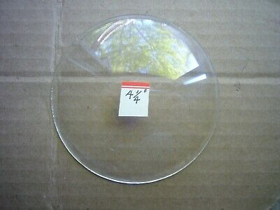 """NEW NOS ~ 4 1/4"""" Round Convex Clock Face Replacement Glass - UNBRANDED ~ 4 1/4"""""""
