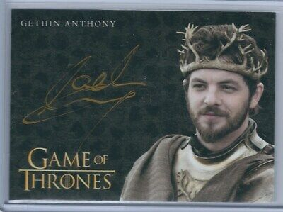 Gethin Anthony as Renly Baratheon Gold Autograph - Game of Thrones Inflexions