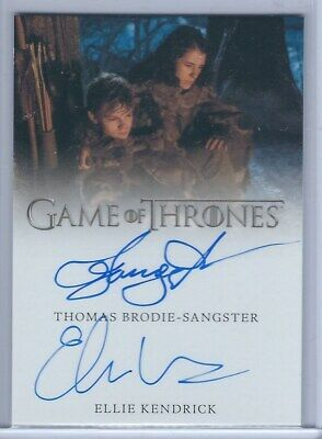 Thomas Brodie-Sangster & Ellie Kendrick Dual Autograph Card - Game of Thrones