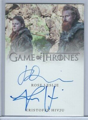 Rose Leslie & Kristofer Hivju Dual Autograph Card - Game of Thrones Inflexions