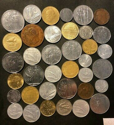 OLD ITALY COIN LOT - 1867-PreEuro - 37 Excellent Coins - Lot #M20